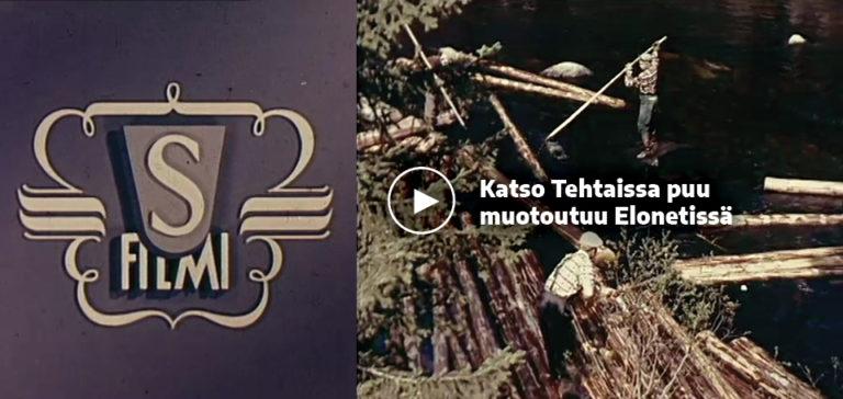 Linkki Tehtaissa puu muotoutuu -elokuvaan